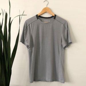 Lululemon   Grey Striped T-shirt